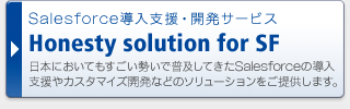 Salesforce導入支援・開発サービス Honesty solution for SF